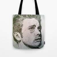 rebel Tote Bags featuring Rebel by Mea Culpa