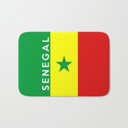 flag of Senegal Bath Mat