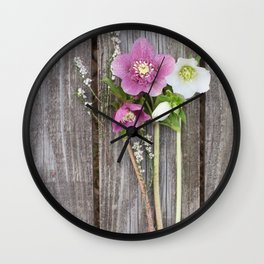 February Bouquet Wall Clock