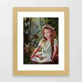 Butterfly Surprise Framed Art Print