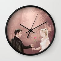 captain swan Wall Clocks featuring Captain Swan by The BMB