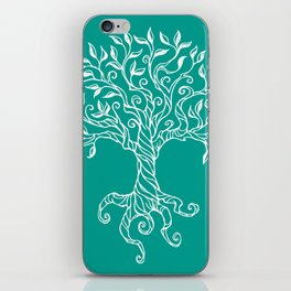 Tree of Life Teal iPhone Skin