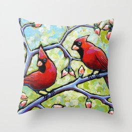 Two Cardinals Throw Pillow