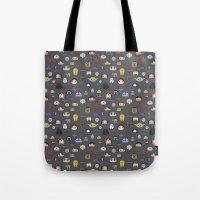 starwars Tote Bags featuring Starwars pattern by Slambear