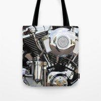 harley Tote Bags featuring Harley  by Marieken