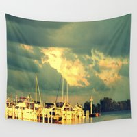 sail Wall Tapestries featuring Lets Go For a Boat Ride by 2sweet4words Designs