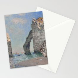 The Rock Needle and the Porte d'Aval by Claude Monet Stationery Cards