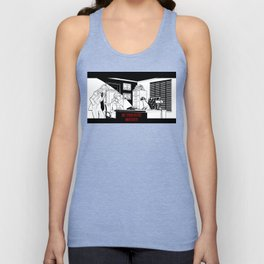 The Cat on the Case Unisex Tank Top