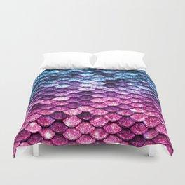Mermaid Tail Pink Purple Blue Duvet Cover