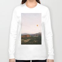 hot air balloon Long Sleeve T-shirts featuring Hot Air Balloon #1 by Alden Terry