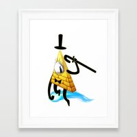 bill cipher Framed Art Prints featuring Bill Cipher by Draikinator