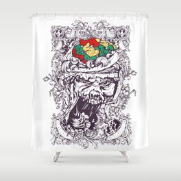 Skull with Brain OUT Shower Curtain
