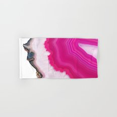 Pink Agate Slice Hand & Bath Towel