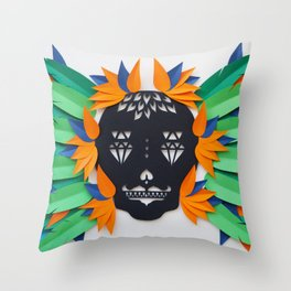 Calavera 3 Throw Pillow