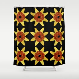 Golden Flower Of Missiles Shower Curtain