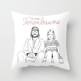 The Royal Tenenbaums (Richie and Margot) Throw Pillow