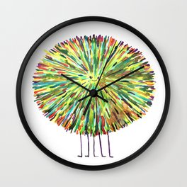 Poofy Splotch Wall Clock