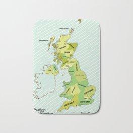 Regions of the United Kingdom Colour version. Bath Mat