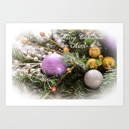 Merry Christmas Aunt Greeting Card Art Print