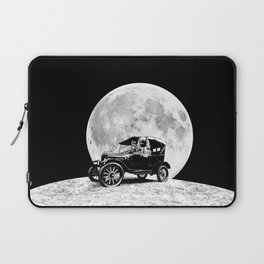 See you on the Moon - Old car - Model T - Spaceship, Astronaut - Retro - Astronomy Laptop Sleeve