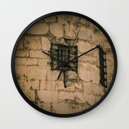 Barred Window at Tower of London England Wall Clock