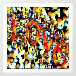 Love In Abstract Art Print