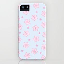 Kawaii Sakura Cherry Blossom iPhone Case