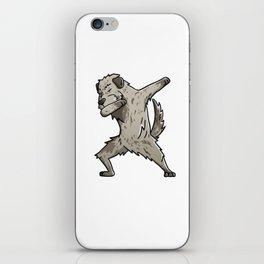 Funny Dabbing Irish Wolfhound Dog Dab Dance iPhone Skin