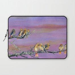 Bohemian Waxwings Birds Laptop Sleeve
