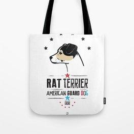 Rat Terrier: American Guard Dog Tote Bag