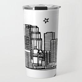 Minneapolis, Minnesota City Skyline Illustration Drawing Travel Mug