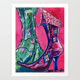 Old Woman in the Shoe vs. The Giant Art Print