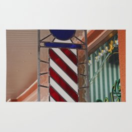 Blake's Barbershop Pole Vector II Rug
