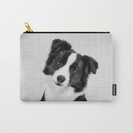 Border Collie - Black & White Carry-All Pouch
