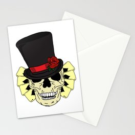 Magician Skull in Top Hat Stationery Cards