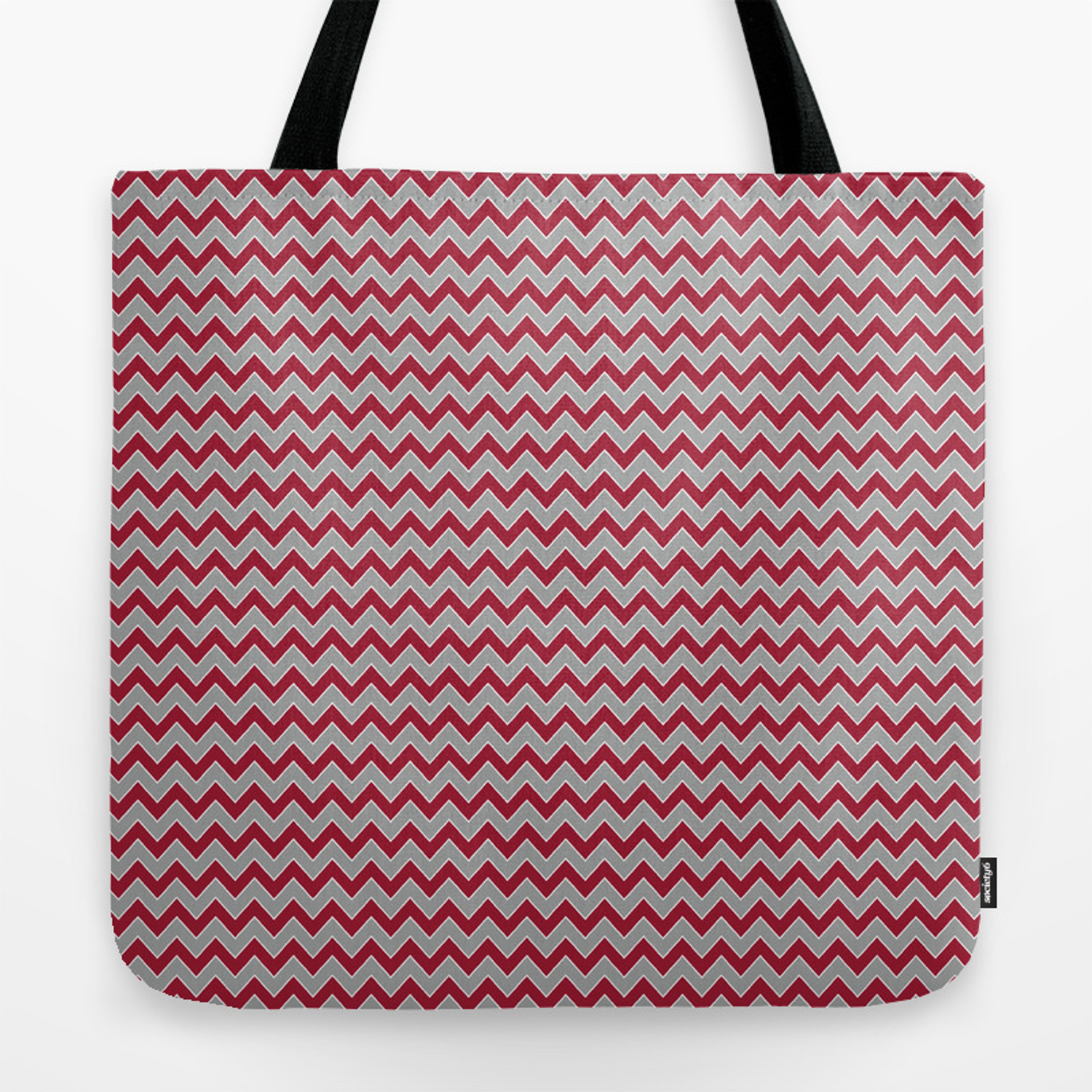 University of Alabama colors chevron zig zag minimal pattern college football sports Tote Bag