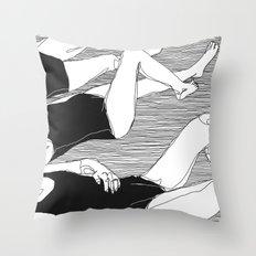 Sisterhood (B & W) Throw Pillow
