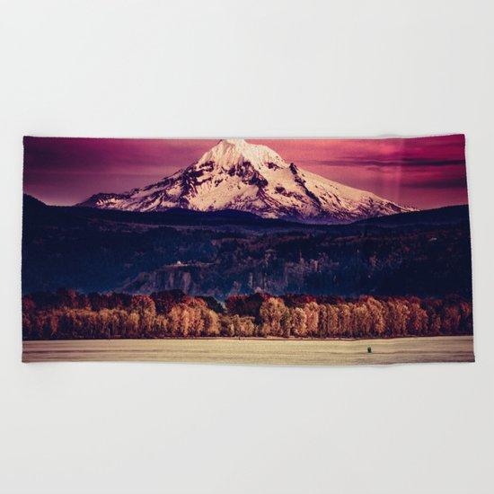 Mt Hood on Columbia River Beach Towel