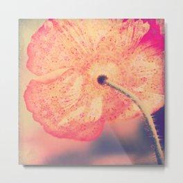 La Bohême, Carefree Poppy Flower Lomo SQ Metal Print