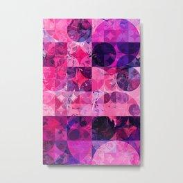 Abstract Geometric Marble Art Metal Print