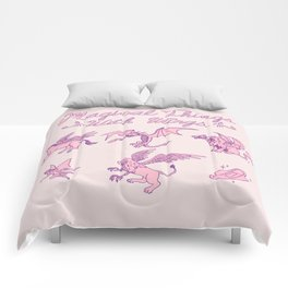 Magical Things With Wings Comforters
