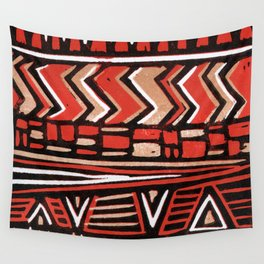 Aztec lino print Wall Tapestry