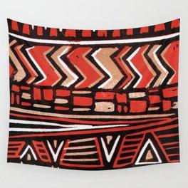 Aztec lino print Wall Tapestry