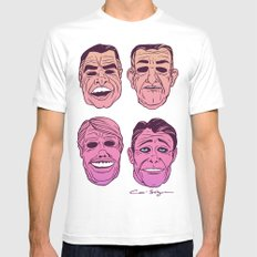 POINT BREAK  - The Ex Presidents MEDIUM White Mens Fitted Tee