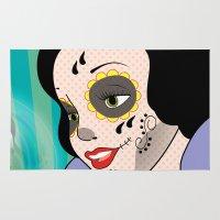 snow white Area & Throw Rugs featuring Snow White  by mark ashkenazi