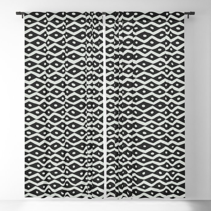 Black & White Tribal Pattern Blackout Curtain