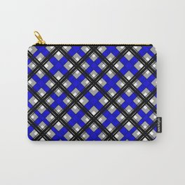 Combo black blue plaid Carry-All Pouch