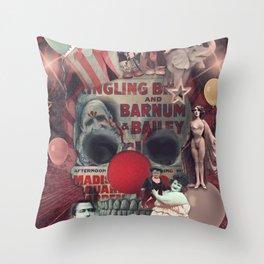 Circus skull Throw Pillow