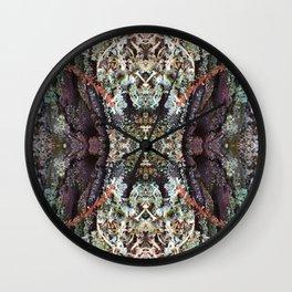 Redwood Bark Kaleidoscope - Purp Edition Wall Clock