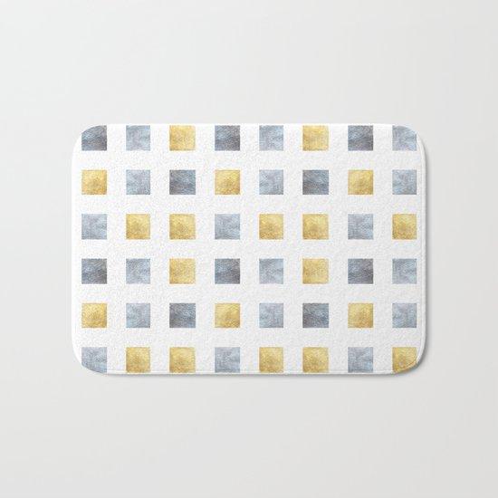 Metallic mosaic Bath Mat